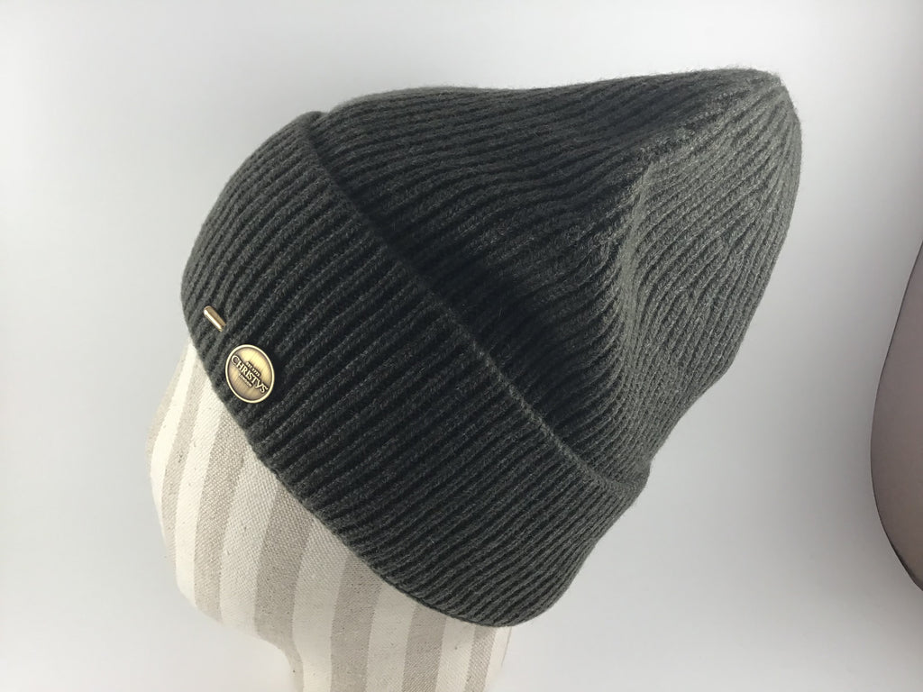 091978644a739 Cashmere Ribbed Beanie by Christys