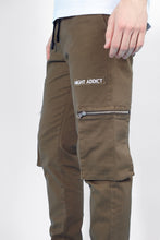 NIGHT ADDICT KHAKI CARGO PANTS DETAIL