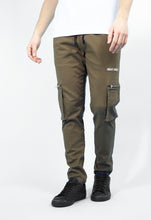 NIGHT ADDICT KHAKI CARGO PANTS FRONT