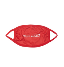 NIGHT ADDICT SUEDE FACE MASK RED