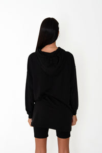 NIGHT ADDICT WOMENS HOODIE DRESS 'IN MEMORY OF WHEN I CARED' BACK