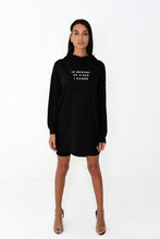 NIGHT ADDICT WOMENS HOODIE DRESS 'IN MEMORY OF WHEN I CARED'