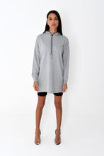 NIGHT ADDICT WOMENS GREY 'BE RIGHT BACK' HOODIE DRESS FRONT