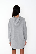 NIGHT ADDICT WOMENS GREY 'BE RIGHT BACK' HOODIE DRESS BACK