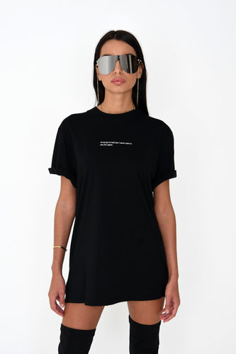 OVERSIZED 'I'D SAY GO TO HELL' TEE - BLACK