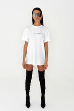 NIGHT ADDICT WOMENS OVERSIZED 'TRUST THE JOURNEY' TEE - WHITE