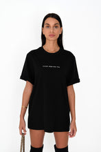 OVERSIZED 'I'M NOT HERE FOR YOU' TEE - BLACK