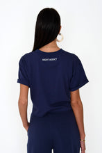 CROPPED PARIS TEE - NAVY