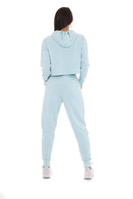'LIMITED' HIGH WAISTED TRACKSUIT LEGGINGS - PASTEL BLUE