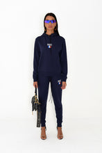 NIGHT ADDICT LADIES NAVY 'PARIS' FULL TRACKSUIT