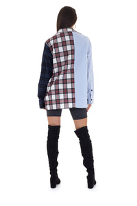 MULTI PATCHWORK OVERSIZED SHIRT