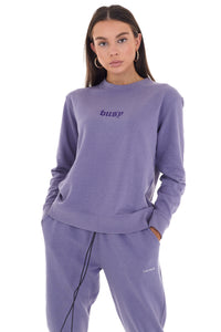 'BUSY' CREW NECK JUMPER - PURPLE