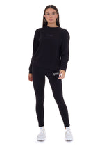 'ENERGY' CREW NECK JUMPER - BLACK