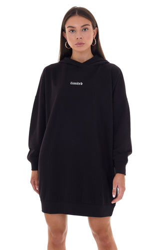 'LIMITED' HOODIE DRESS - BLACK