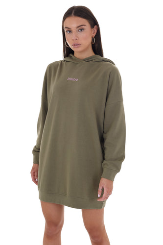 'LIMITED' HOODIE DRESS - KHAKI