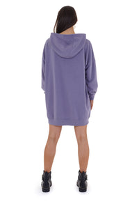 'OFFLINE' HOODIE DRESS - PURPLE