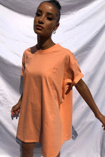 NIGHT ADDICT LOGO T-SHIRT DRESS - CORAL