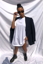 NIGHT ADDICT WHITE 'HERE' T-SHIRT DRESS FRONT