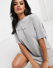 NIGHT ADDICT LADIES GREY 'TRUST THE JOURNEY' T-SHIRT DRESS FRONT