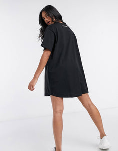 NIGHT ADDICT '20 NUGS PLZ' SLOGAN T-SHIRT DRESS BACK