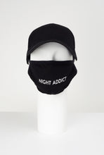 NIGHT ADDICT SUEDE FACE MASK BLACK