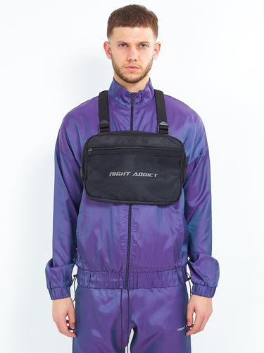 IRIDESCENT PURPLE ZIP THROUGH
