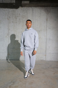 GREY MARL JOGGING BOTTOMS - SILENT MADNESS