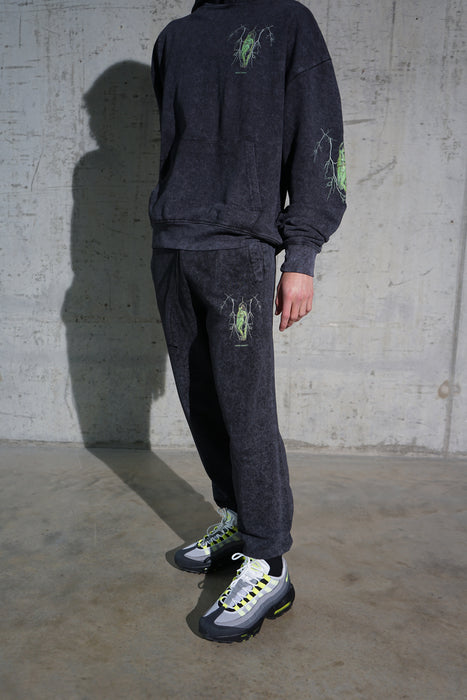 ACID WASH JOGGING BOTTOMS - PINB