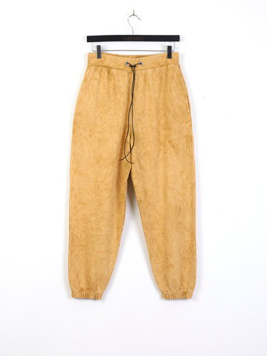 ACID WASH JOGGING BOTTOMS - TAN