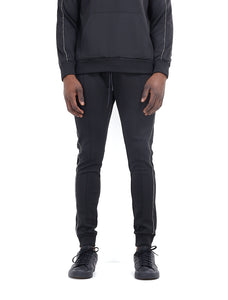 TECHNICAL TRACK PANTS - BLACK WITH ROPE