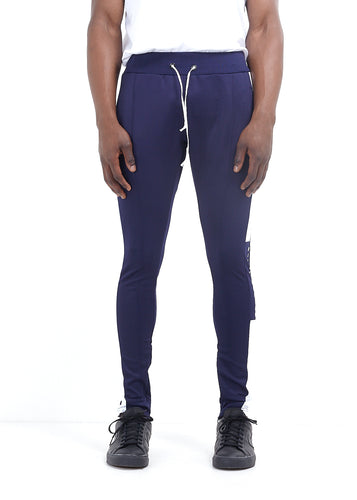 TRACK PANTS -  NAVY WITH WHITE