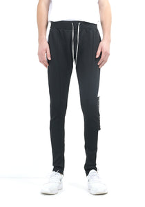 TECHNICAL TRACK PANTS - BLACK WITH WHITE