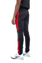 TRACK PANTS -  BLACK WITH RED