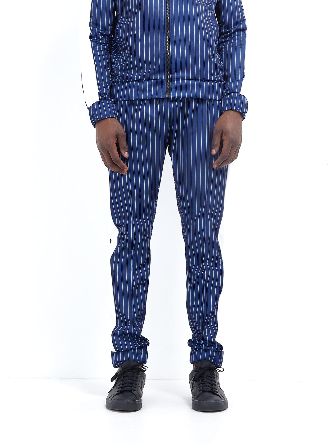 TECHNICAL TRACK PANTS - NAVY PINSTRIPE