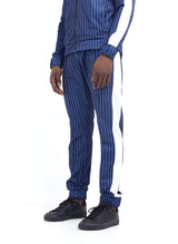 NIGHT ADDICT TECHNICAL TRACK PANTS - NAVY PINSTRIPE