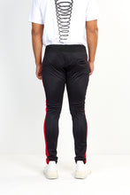 TECHNICAL TRACK PANTS – BLACK WITH RED