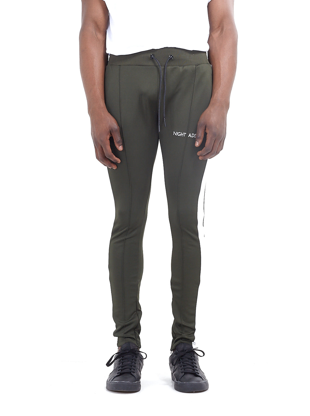 TECHNICAL TRACK PANTS - BOTTLE GREEN