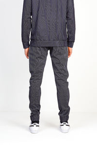 TECHNICAL TRACK PANTS - BLACK PINSTRIPE