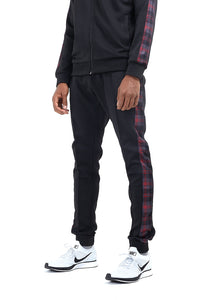 TECHNICAL TRACK PANTS -  RED CHECK PANEL