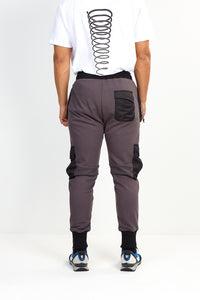 NIGHT ADDICT UTILITY JOGGING BOTTOMS – GREY WITH BLACK