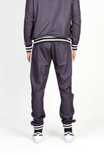 NIGHT ADDICT GREY CHECKERBOARD PRINT JOGGING BOTTOMS BACK