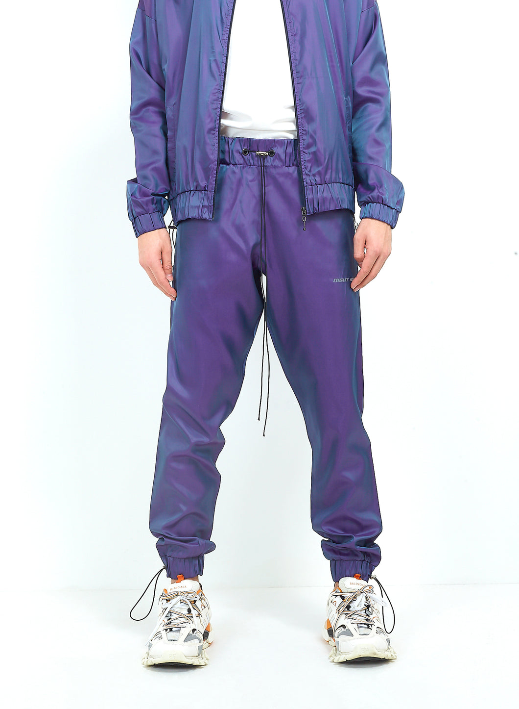 NIGHT ADDICT IRIDESCENT PURPLE JOGGERS FRONT