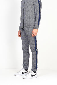 TECHNICAL TRACK PANTS - CHECK