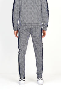 NIGHT ADDICT PRINCE OF WALES CHECK JOGGING BOTTOMS