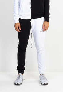 NIGHT ADDICT SPLICED JOGGERS - BLACK/WHITE