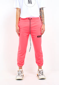 NIGHT ADDICT NEON PINK CROPPED JOGGERS FRONT