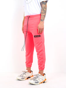 NIGHT ADDICT NEON PINK CROPPED JOGGERS SIDE