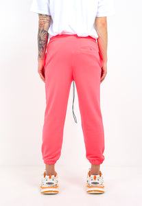 NIGHT ADDICT NEON PINK CROPPED JOGGERS BACK