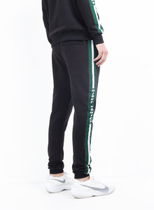 NIGHT ADDICT TRACK PANTS - BLACK WITH GREEN