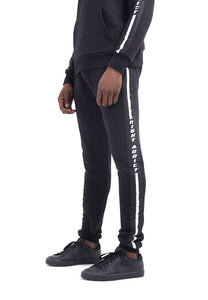 TRACK PANTS - BLACK ON BLACK